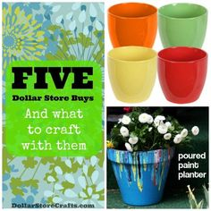 Five dollar store buys and what to craft with them - DollarStoreCrafts.com