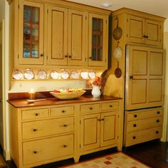 Colonial Kitchen Cabinets colonial-style kitchens | this dream kitchen has lots of open