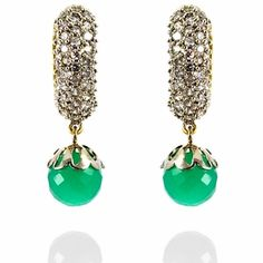 emerald ear rings...perfect for indian outfits