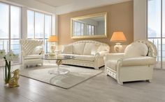 Helena is a classical upholstered suite with a  rounded back.