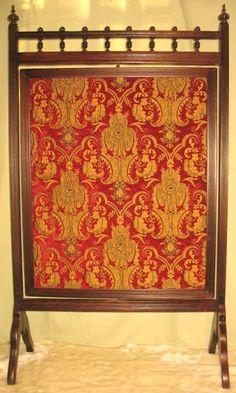 Victorian Brass Handpainted Mirror Fireplace Screen UK | Victorian ...