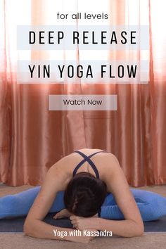 Stretch and release tension with this 45 minute yin yoga sequence for beginners and all levels. This yin yoga class for flexibility was designed to improve flexibility and relieve stress and anxiety. Yin yoga poses are held for 3-5 minutes and are perfect for deep stretching and tension release. Click through for this free online yoga class on our yoga YouTube channel! Yoga for flexibility | yoga for stretching | yin yoga routine for flexibility | at home yoga | learn yoga at home Yin Yoga Sequence, Yin Yoga Poses, Yoga Sequence For Beginners, Yoga Youtube, Yoga For Stress Relief, Online Yoga Classes, Yoga For Back Pain, Advanced Yoga, Learn Yoga