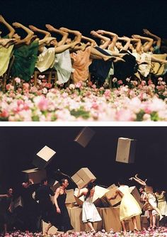 Pina collaborated with Yohji Yamamoto in 1998, for the 25th anniversary of the Pina Bausch dance company in Wuppertal; to accompany her choreography, all the dancers wore Yohji Yamamoto clothing.