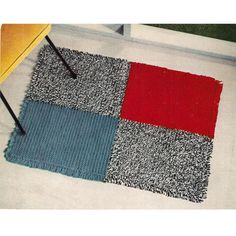 Here is a simple --- super easy --- crocheted area rug to add just a bit of color wherever you might need.