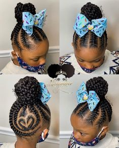 Black Kids Braids Hairstyles, Toddler Braided Hairstyles, Cute Little Girl Hairstyles, Little Girl Braids, Natural Hairstyles For Kids, Baby Girl Hairstyles, Braids For Kids, Girls Braids, Toddler Braids