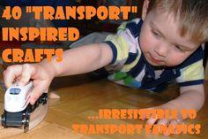 40 Transportation Inspired Crafts