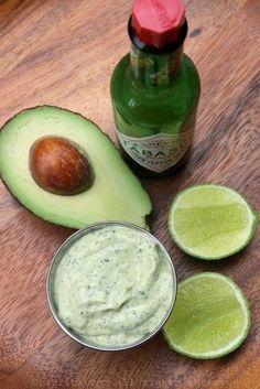 Avocado and cilantro mayonnaise sauce – Laylita's Recipes Mexican Food Recipes, Vegetarian Recipes, Cooking Recipes, Healthy Recipes, Ethnic Recipes, Avocado Recipes, Sauce Recipes, Love Food, Food Porn