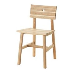 IKEA - SKOGSTA, Stuhl, Massivholz ist ein strapazierfähiges Naturmaterial, das bei Bedarf abgeschliffen und oberflächenbehandelt werden kann.