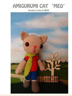PATTERN - CAT (crochet, amigurumi, toy,pattern)