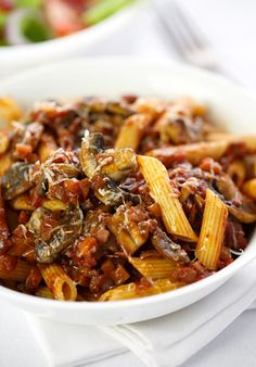 Mushroom Ragu with Penne - I really liked this dish, Josh wasn't as big of a fan but I really think it is only cause it was a vegetarian meal :( I think if I had added some meatballs he would have been more excited about it! JF 6/5/2014