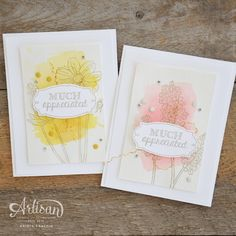 Stampin' Dolce: Watercolor Background with Helping me Grow Stamp Set from Stampin' Up! - GDP034