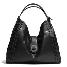 The Madison Grommets Large Carlyle Shoulder Bag In Leather from Coach