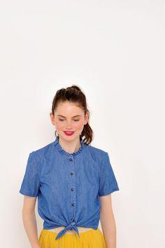 Top lala blue -  100% coton - des petits hauts 1