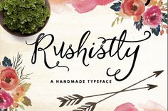 Check out 20%Off-Rushistly Script by Graphic Box on Creative Market