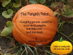 Just about everything you wanted to know about pumpkins and then some!  32 non-fiction task cards to reinforce reading skills and learn some interesting history. Grades 3-6. Answers included.