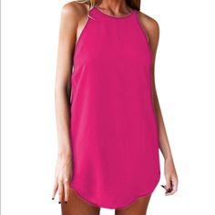 {Sale} Cami Mini Slip Dress in Hot Pink ✨Cami Mini Slip Dress in Hot Pink✨. GlamVault Dresses Mini