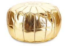 Moroccan Pouf, Gold | Spotlight on the Pouf | One Kings Lane