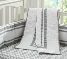 Adorable #organic cotton Harper bedding @Pottery Barn Kids on #SeaMamas.net