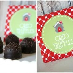 Easy Oreo Truffle Recipe & Printable Labels {Edible Gifts} These little Oreo Truffles make an irresistible edible gifts for neighbors this holiday season. Christmas Goodies, Christmas Desserts, Holiday Treats, Christmas Treats, Christmas Baking, Christmas Printables, Holiday Gifts, Christmas Candy, Christmas Eve