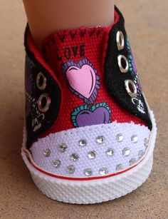 Trendy Bling Sneakers for American Girl Dolls are at Harmony Club Dolls Shopping Website. Visit www.harmonyclubdolls.com