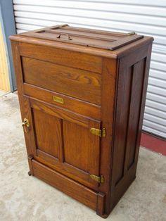 American Antique Ice Box Refrigerator from mrbeasleys on Ruby Lane