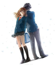 #animecouple - kou & futaba | anime - ao haru ride