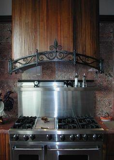 Kitchen Range Hood with Iron Filagree by candace Kitchen Wet Bar, Kitchen Redo, Kitchen Design, Kitchen Ideas, Kitchen Exhaust, Kitchen Hoods, Kitchen Appliances, Holmes On Homes, Cooker Hobs