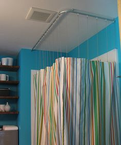 a modern look for your traditional shower curtain