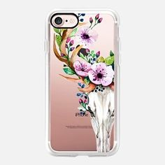 iPhone 7 Case Deer Head Skull and Floral