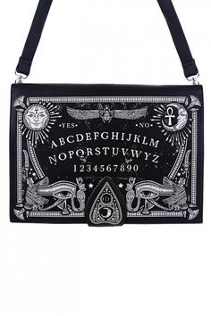 Restyle Tasche Ouija Board Ouija, Gothic Kleidung, Gothic Fashion, Bag Making, Fanny Pack, Messenger Bag, Satchel, Horror, Bags