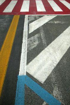 Photo by Franco Fontana: asphalt series
