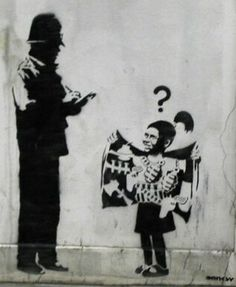 Girl vs Cop, Banksy