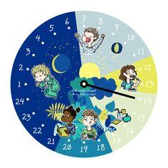 Teaching Time, Teaching Kindergarten, Preschool Learning, Kids Routine Chart, Cute Art Projects, School Frame, 1st Grade Worksheets, Toddler Schedule, Pre School