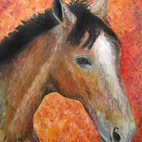 horse art painting