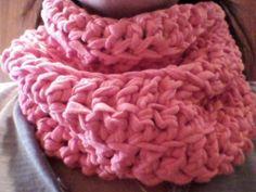 DIY Tutorial como hacer bufanda cuello fular de trapillo ganchillo crochet XL en Castellano