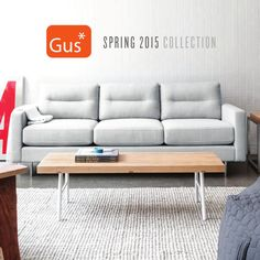 The Gus* Modern Spring 2015 Furniture Collection. Includes product images and fabric/finish options for the complete line of modern sofas, sectionals, chairs, beds, ottomans, dining, home office, storage, accents, lighting and accessories. For more information visit http://www.gusmodern.com