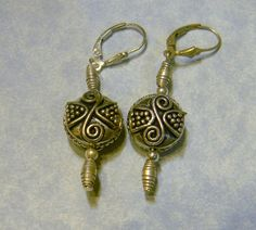 Bali Style and Hill Tribe Silver Drop Earrings