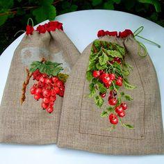 """Милые сердцу штучки: Вышивка крестом: """"Вишня (или черешня) и красная см..."""