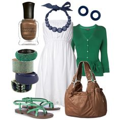 blue & green, created by htotheb.polyvore.com