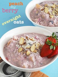 Peach and Berry Overnight Oats | The Breakfast Drama Queen