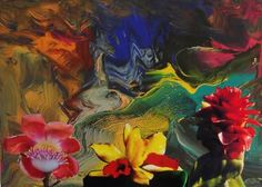 """Saatchi Art Artist Carlo Maniero; Painting, """"Three things have remained the paradise: stars, flowers and children."""" #art"""