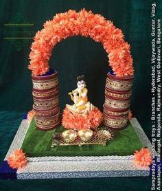 Flowers Bouquet Gift Decoration 66 Ideas For 2019 Gauri Decoration, Thali Decoration Ideas, Decoration For Ganpati, Kalash Decoration, Diwali Decorations At Home, Festival Decorations, Flower Decorations, Wedding Decorations, Rangoli Designs Flower