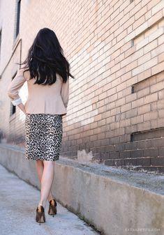 ExtraPetite.com - New workwear option: The Limited petites #TheLimited #WorkWear #BloggerStyle #ExtraPetite #LeopardPrint