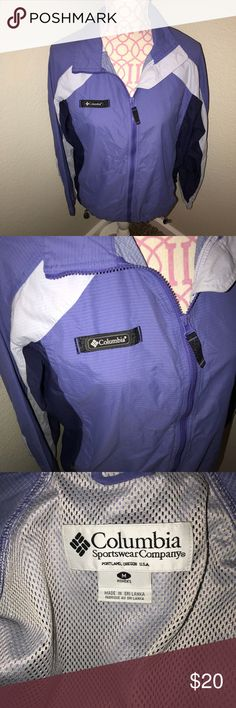 Columbia Purple Windbreaker Jacket Good condition Columbia Jackets & Coats