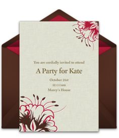 "Tons of free Kentucky Derby party invitation templates. We love this free ""Embossed Flowers"" design, perfect for inviting friends to fancy Derby party."