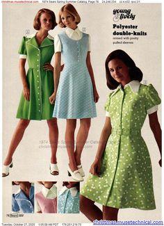 70s Outfits, Vintage Outfits, Vintage Dresses, 1970 Dresses, Seventies Fashion, 60s And 70s Fashion, Vintage Fashion, Retro Mode, Vintage Mode