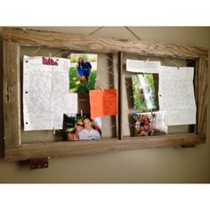 Picture frame with chicken wire and little clothes pins
