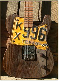 Fabulous Dismal Ax Road Dog Guitar,texas,plate,pickup,knobs,strings,wall,wooden guitar,neat guitar,cool guitar,unique guitar