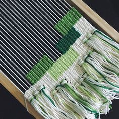 Hand-woven tapestries by Melissa Washin: Tablet Weaving, Weaving Art, Tapestry Weaving, Loom Weaving, Hand Weaving, Weaving Textiles, Weaving Patterns, Yarn Wall Art, Weaving Wall Hanging