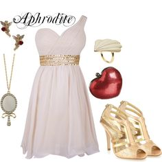 """Aphrodite (goddess of love)"" by strawberryapricotpie on Polyvore"